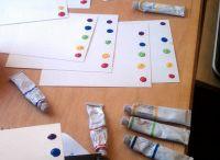 Malování - techniky / Nápady a různé techniky na malování s dvou až tří letými dětmi