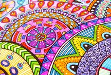 mandala, doodle and colouring