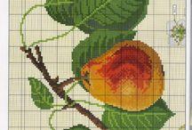 vyšívání - ovoce, zelenina
