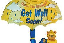Melhoras / Enviar balões em hospitais ou para o colega no trabalho levanta o ânimo de qualquer pessoa.