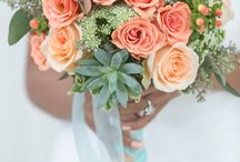 Mint & Peach for your Irish wedding / Beautiful spring colour combination for your wedding: decoration, table centerpieces...