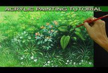 Akrylmålning