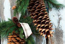Juledekorasjoner natur