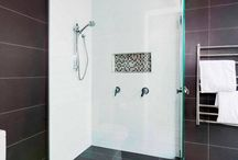 Glass in Bathrooms / Bathroom Designs | Glass | Modern | Stylish | let light in