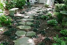 Garden path, down the