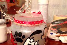 Painted jars crafts