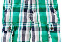 Arizona Plaid Cargo Shorts - Boys
