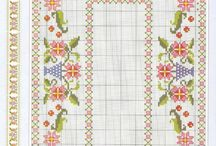 cross stitch tableclothes