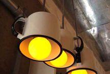 Cafe 66 @ Hey Jude's alternative lighting ideas! / Funky vintage lights!