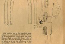 šití - historické, návody