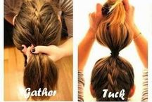 French braid buns