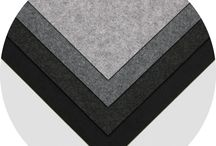 """Felt Sheet Packs: Premium Synthetic / (4) 18""""x18"""" felt sheets in both varied palettes. Precision cut from our modern Premium Synthetic Felt, these are perfectly sized for personal projects or generous samples for a designer's material library.  $26 per palette."""