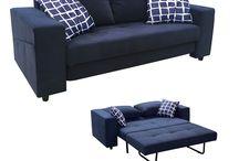 Καναπές Κρεβάτι Smart Blue E958,23 177X87X68 cm