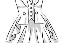 женский фрак, жилеты