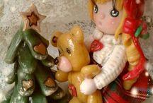 idee natalizie in pasta di mais o porcellana fredda