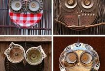 Arte com reciclados