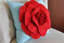 Rose Flower Pillows