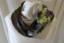 Hemp Knit Tie Dyed Scarves