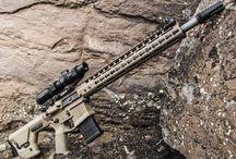 AR's, rifles and handguns