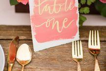Wedding Colours: Watercolour / Watercolour wedding inspiration.