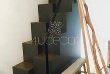 Escadas Interior - Microcimento / Microcimento aplicado em Escadas no interior. Veja mais em www.microcimento.pt