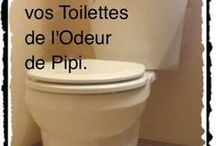 enlever odeur dans les WC