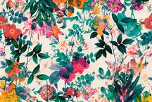 fierce florals / a well placed bad ass floral is much of the battle. // art, pattern and color palette inspiration.