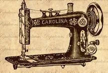 Sewing machine illıstrations