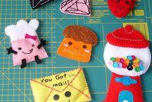 Embellishments / Adornments / Applique  / Felt, Fabric, Paper, Ornaments, Quilting, etc. Ideas & Images