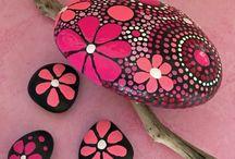 colorful stones decor