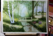 Artwork by Jade Scarlett - Watercolor Landscapes / My paintings of bucolic landscapes in transparent watercolor