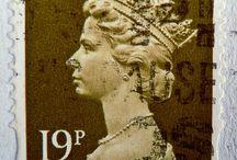 Stamps - UK of Great Britain / England/Guernsey (Alderney)/Isle of Man/Scotland / by Blanca de Guzman