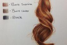 vlasy / kreslene vlasy