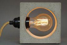Бетонная лампа