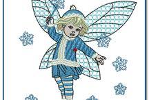 Angel machine embroidery designs