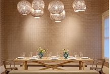 Dining room light fixtures / hanging fixtures for a garden/farmhouse home