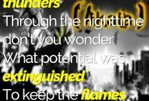 Lyrics & Quotes / A selection of lyrics from artists we work with along side some inspirational music quotes.