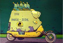 Schnabelmänner-Taxi