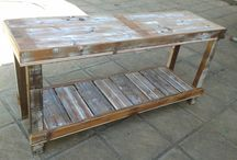Shack Dweller Furniture / Upcycled Old Oregon and other wood turned into furniture: Pallet Furniture, Informal pieces, home made.