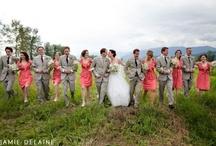 Colour: Coral + Grey Wedding
