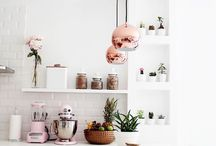 Rose Pink & Copper Kitchen