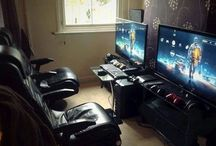 Gamers room and stuff