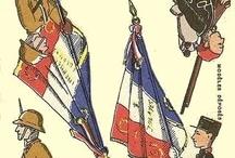 French vintage paper model