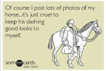 Horse Humor / These pins are pretty funny! I can relate to most of them being a horse-crazy girl myself! :)