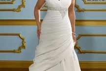 Plus size Wedding Dresses/Evening Wear / Finding plus size anything is hard for the curvier woman. Everyone is not a size 2 or size 4. That is why I am proud of all the women with curves who proudly show their beautiful fashions. / by Sandra Adekanye
