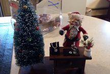 Santas And Snowmen originals by me. / One of a kind  Santas I've created.