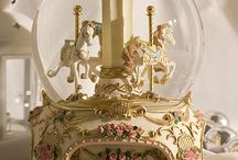carousel horse music box