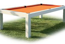 "Billiard Table ""Capri"" for outdoor / illiard table Capri is born from the long time experience of MBMBiliardi matured in many years. This allowed to transfer the technology of traditional billiard table into a new type of structure of billiard table, which is made entirely from anodized aluminium and has features to be completely detachable thanks to especially studied systems."