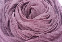 Gobge Natural Dyeing Soft Feel Silk Shawl Scarf ( Purple )