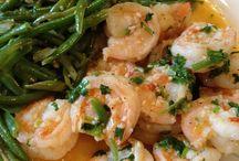 Shrimp and green beans / Main